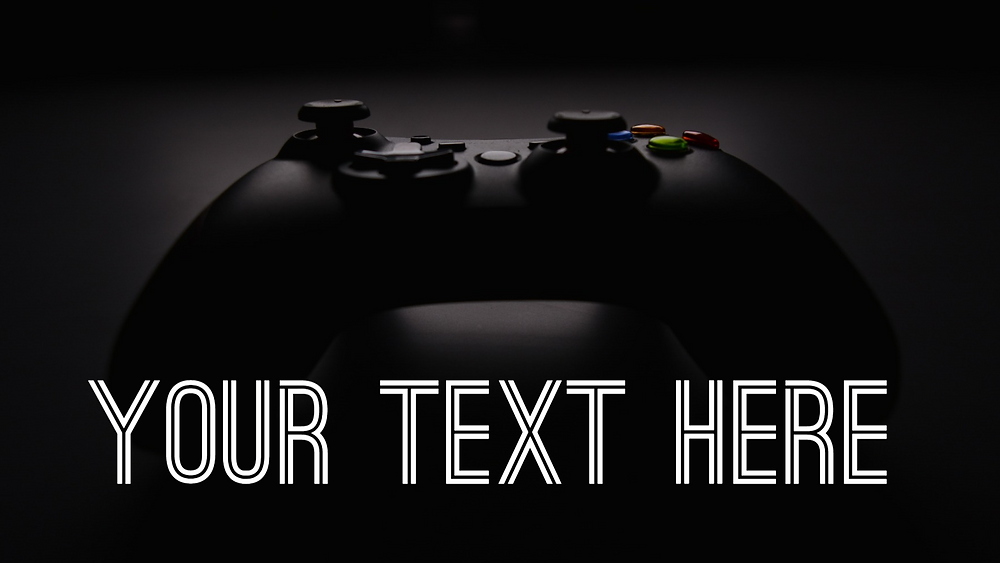 Gaming channel YouTube intro video template - Photo of Xbox controller, with space for your text