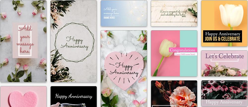 anniversary social media post templates