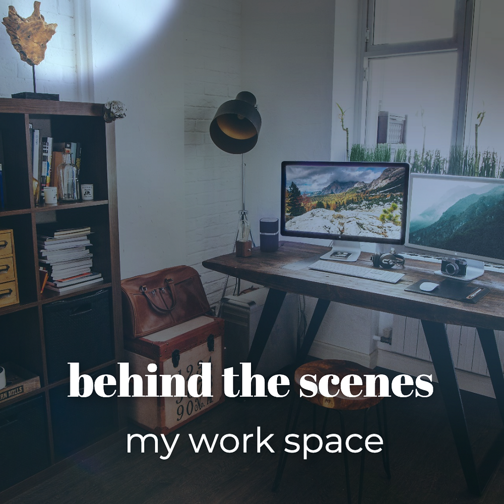 My workspace social media template