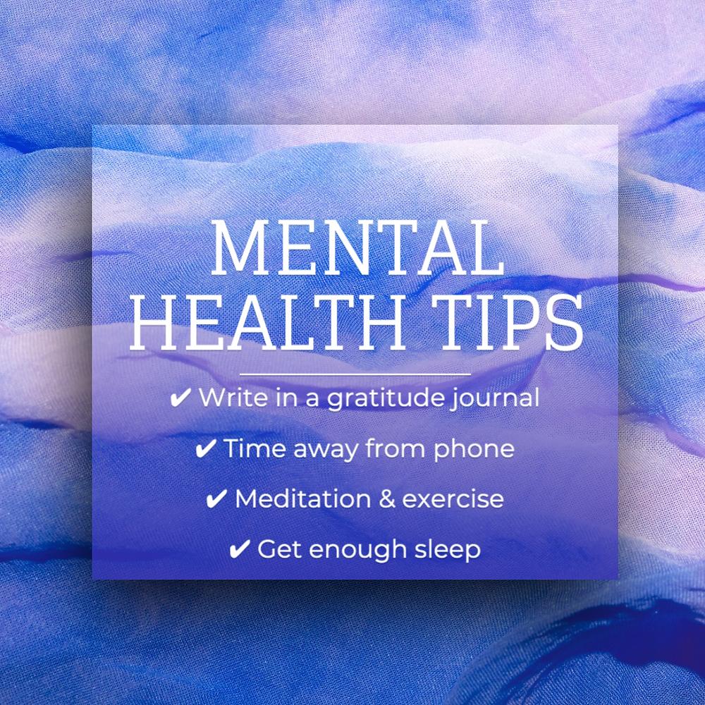 Mental health tips social media post tempalte