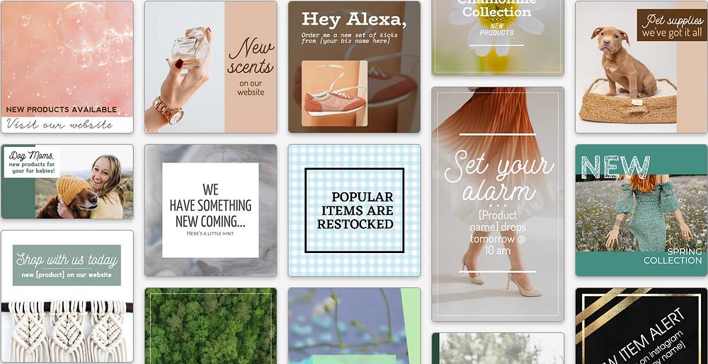 New offering social media templates