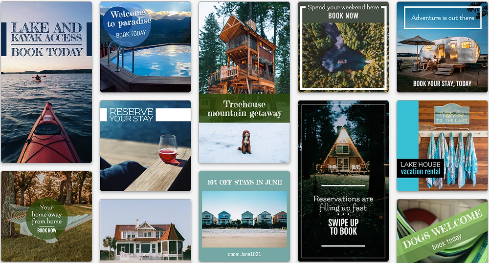 Vacation rental social media post templates