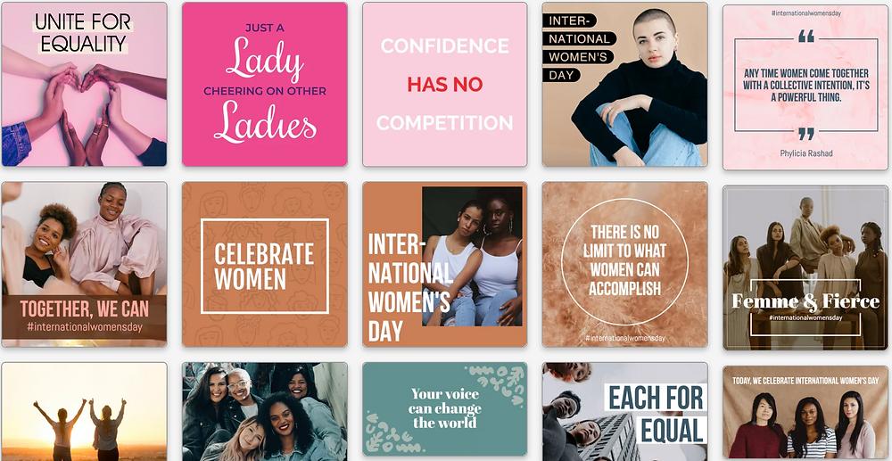 International Women's Day social media templates