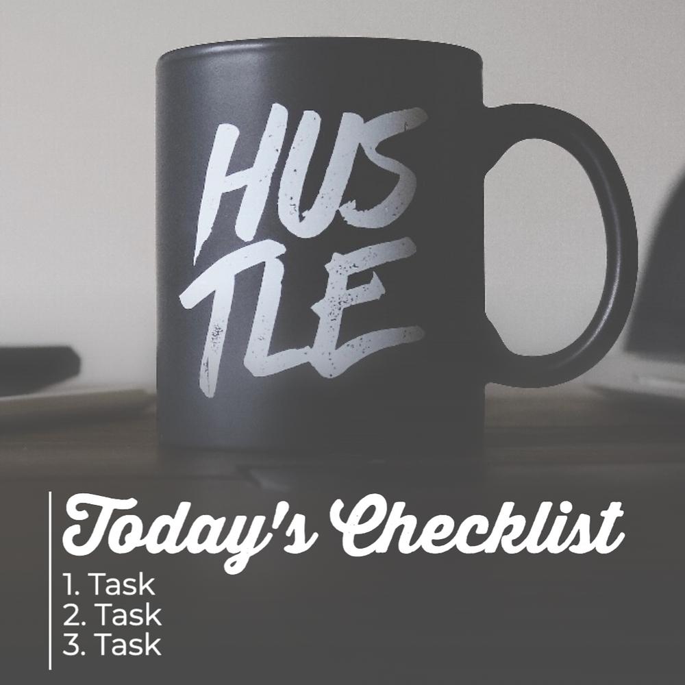 checklist social media template