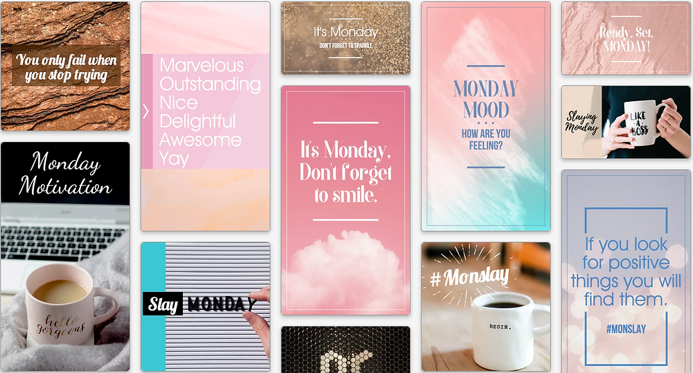 Motivation Monday social media template collection