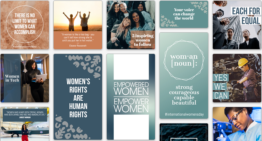 International Women's Day social media templates to celebrate Women's History Month