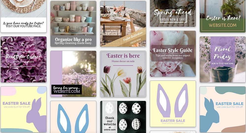 Easter sale social media templates