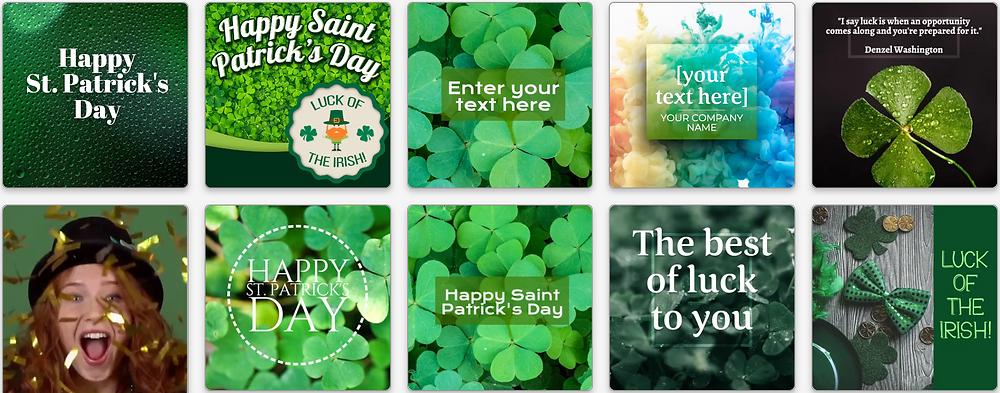 St. Patrick's Day social media post templates