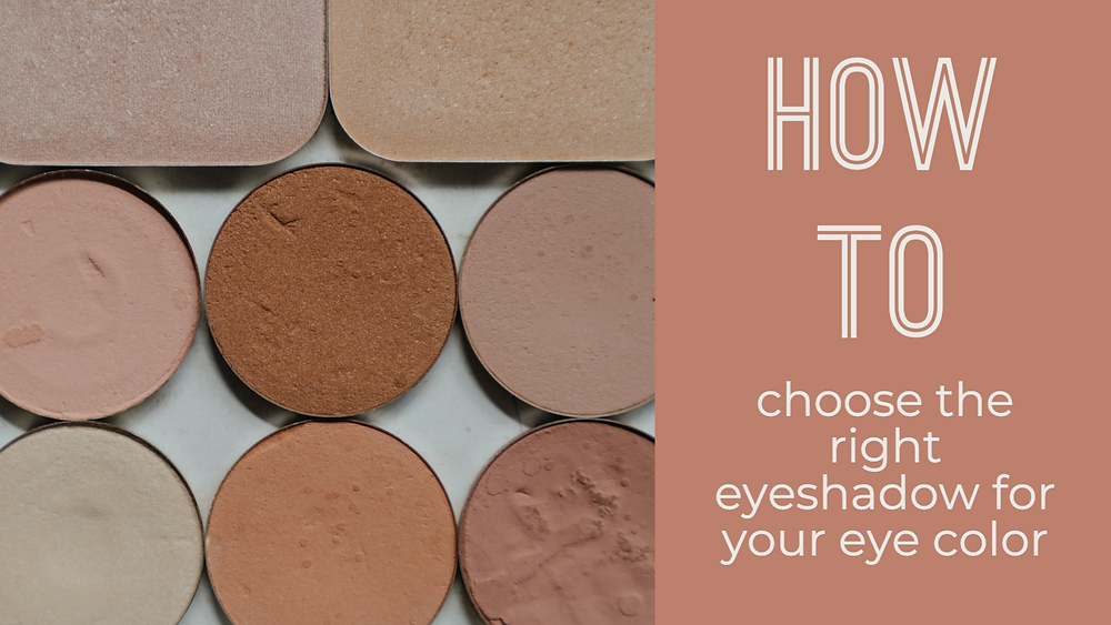 Makeup channel YouTube intro video - Photo of eyeshadow, text says: How to choose the right eyeshadow for your eye color