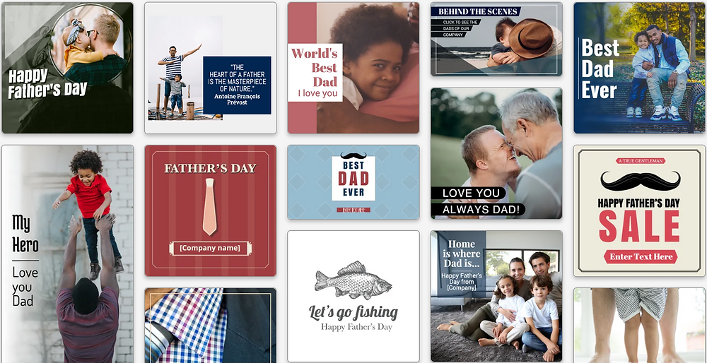 Father's Day social media templates