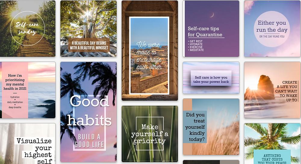 Self-care Sunday social media templates