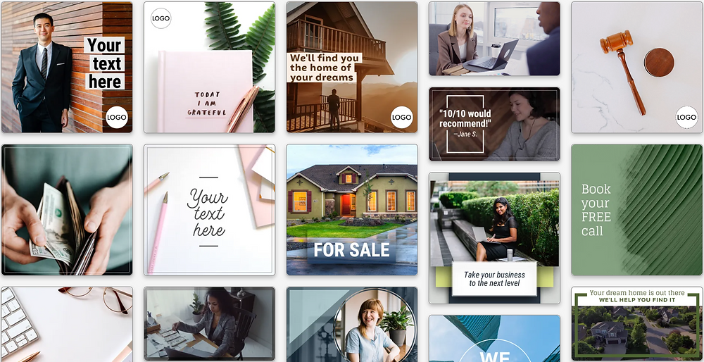 Facebook and Instagram ad templates