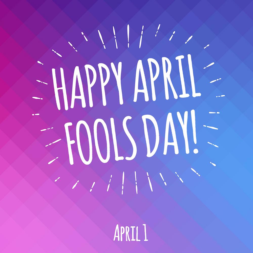 April Fools Day social media post