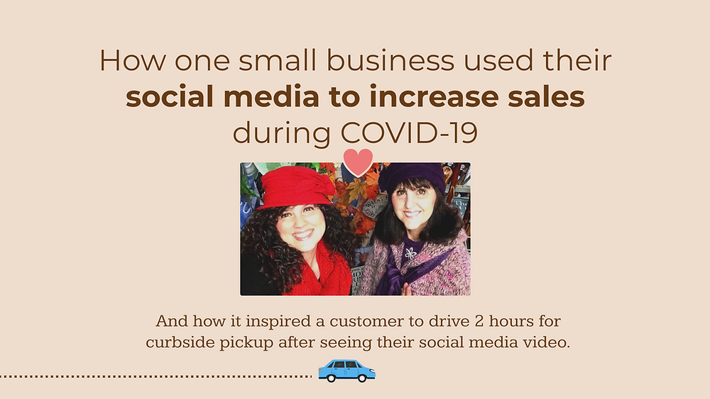 How one small business used their social media to increase sales during COVID-19