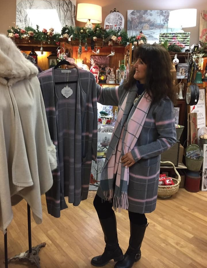 Joy modeling sweaters