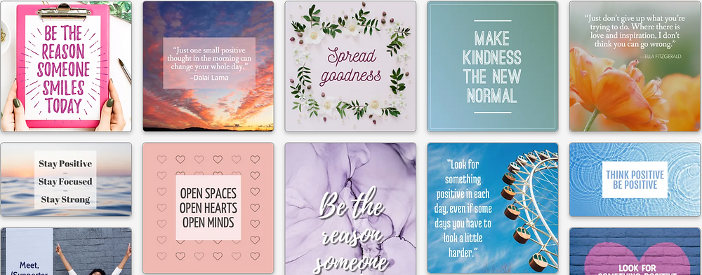 Spread positivity social media template collection