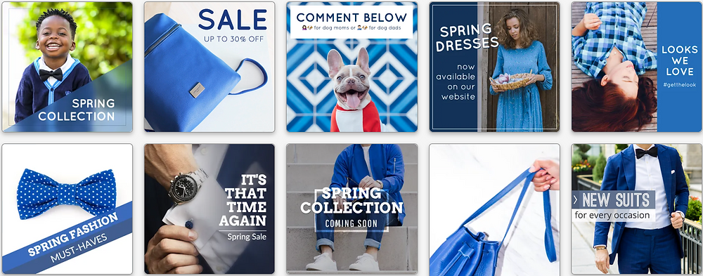 Blue mood post template collection