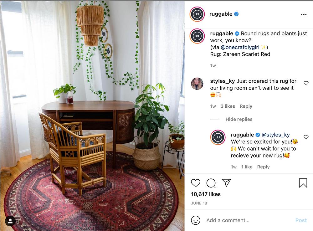 Ruggable Instagram example post
