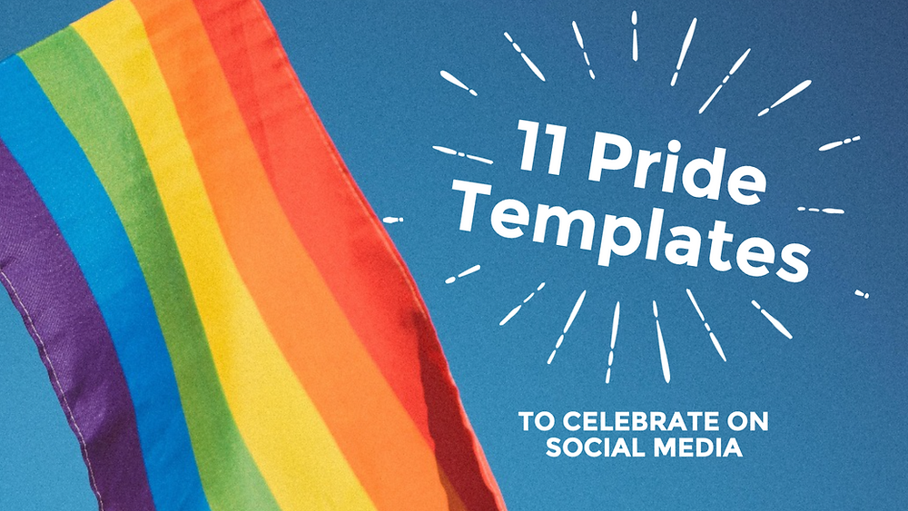 11 social media templates to celebrate Pride month