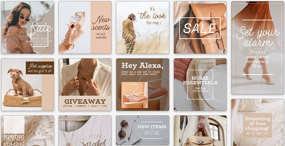 Beige and beautiful post template collection