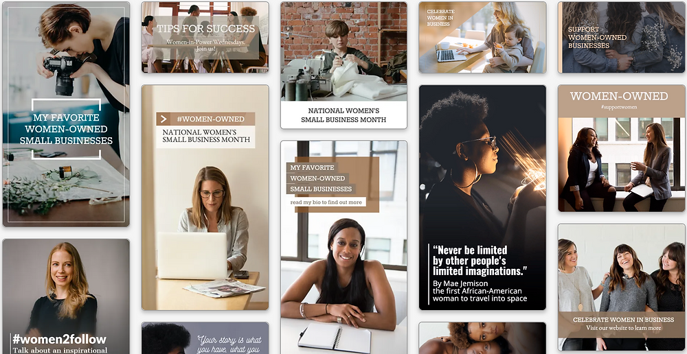Women-owned business social media templates