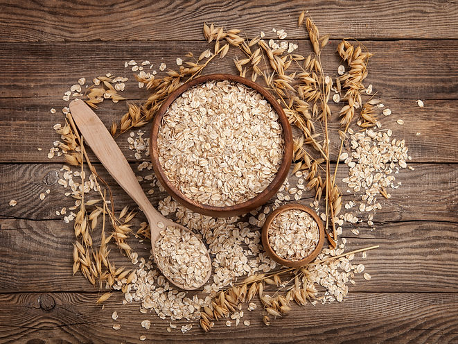 oats in a spoon in a plate on a table sc