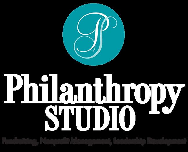 Philanthropy Studio Logo Fundraising, Nonprofit Management, Leadership Development