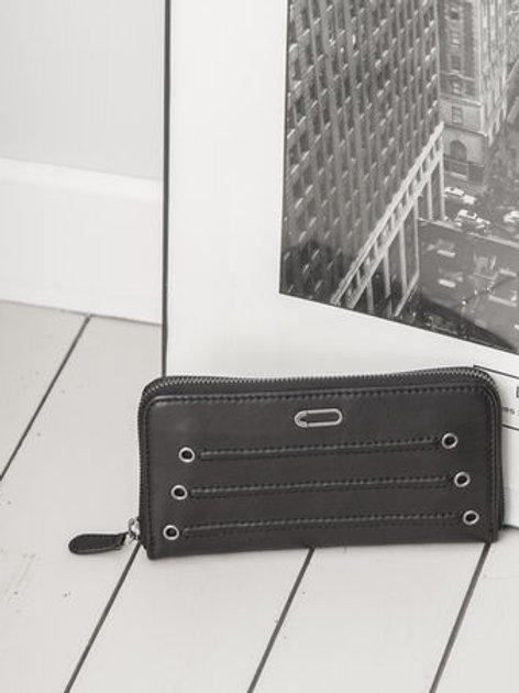 Portefeuille en cuir noir - IKKS