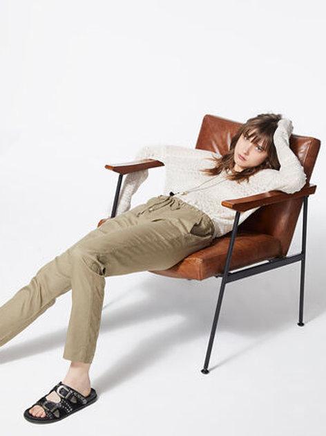 Pantalon lyocell poches zippées 7/8 - IKKS