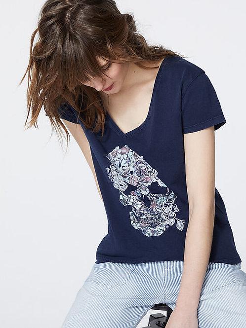 Tee-shirt coton traitement acid wash visuel rock - IKKS