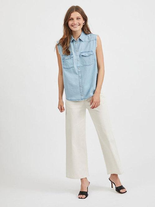 Chemise en jeans sans manche