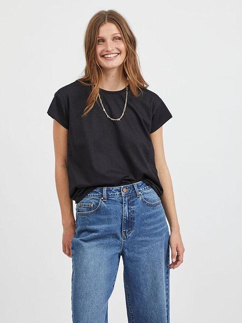 T-shirt col rond manche un quart