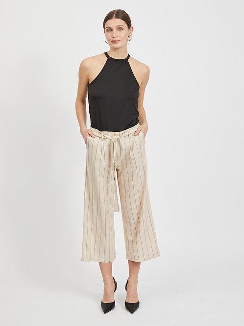 Pantalon cropped en lin