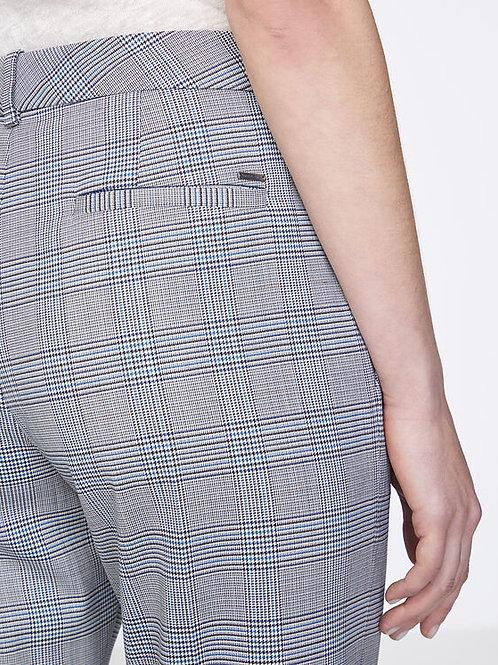 Pantalon tailleur 7/8ème à carreaux prince de galles - IKKS