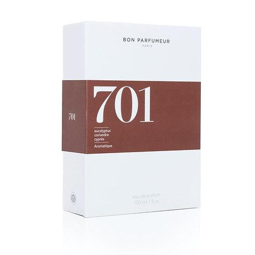Eau de parfum 701 à l'eucalyptus, coriandre et cyprès