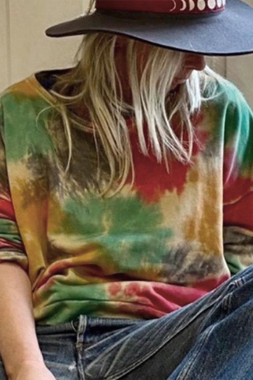 Sweat en coton tie&dye - Charlie Joe