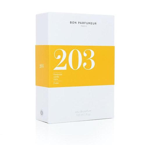 Eau de parfum 203 à la framboise, vanille et mûre