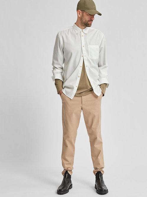 Pantalon slim en lin et coton bio