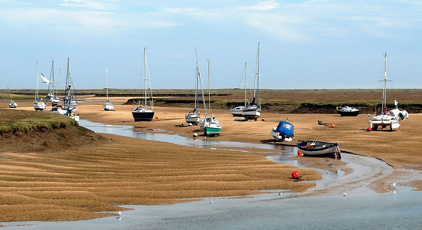 The beach at Wells-Next-The-Sea