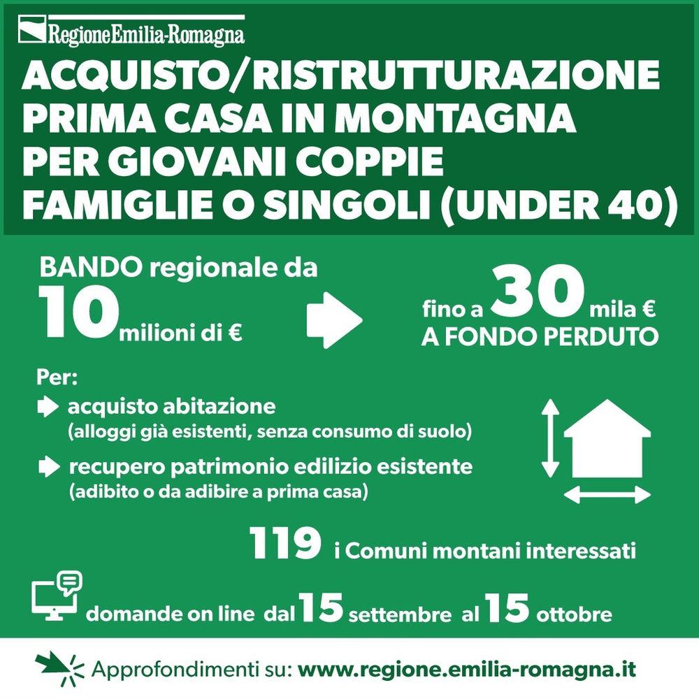 Bando Acquisto Ristrutturazione Prima Casa In Montagna Per Giovani Coppie Famiglie O Singoli Under40
