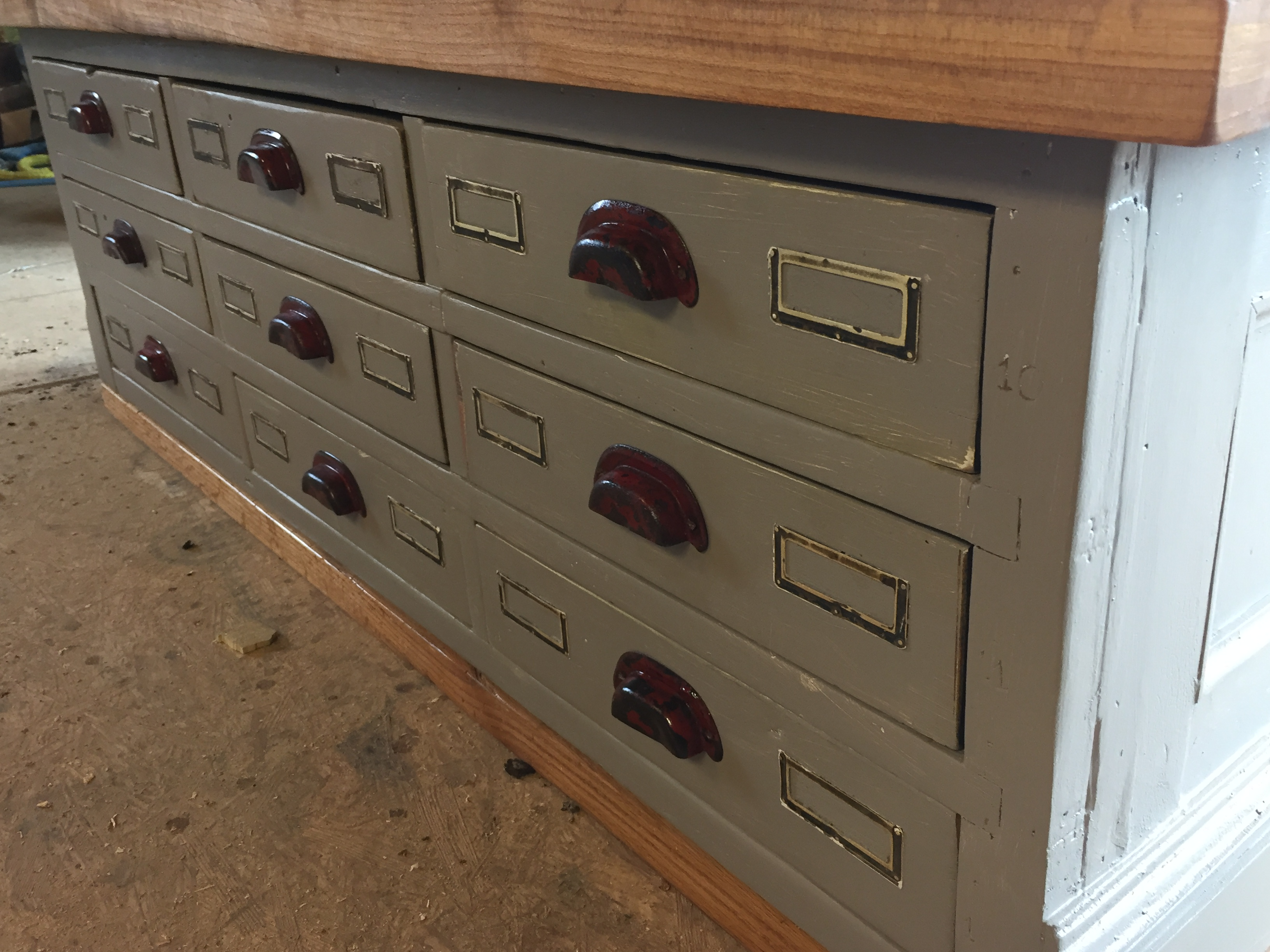 Reclaimed Workbench Close Up