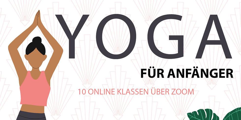 Anfänger Hatha Yoga 10 Wochenkurs - Online