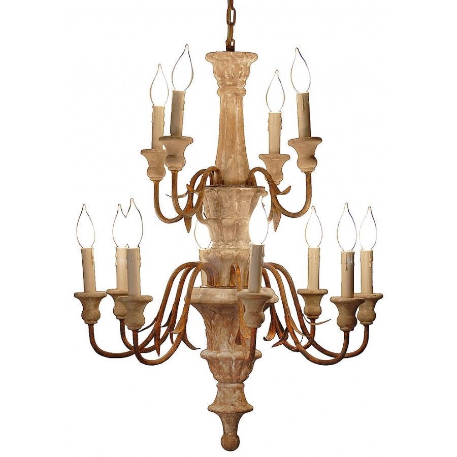 RPS5 Wood Centerpiece Chandelier