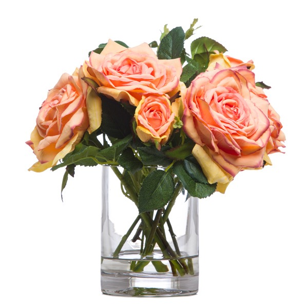 Talisman Roses in Small Cylinder