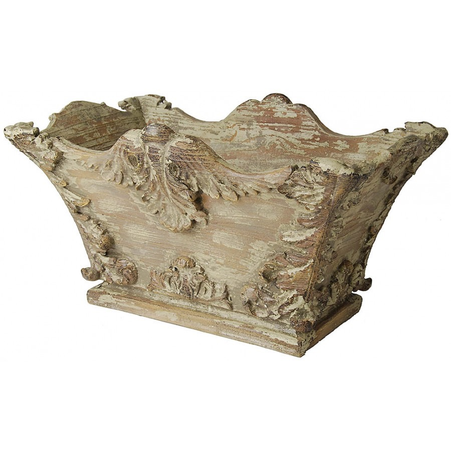 LF013  Faux Aged Decorative Planter