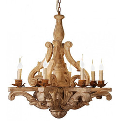 RPW1 Carved Wood Chandelier