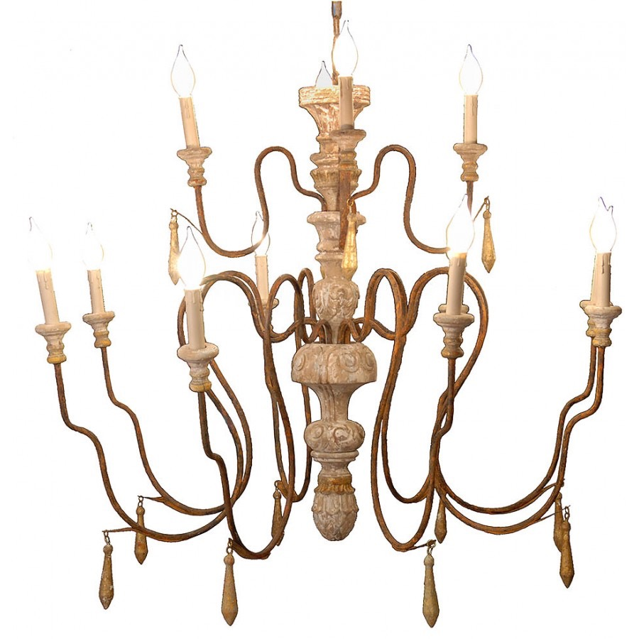 RPS6 Wood Centerpiece Chandelier