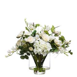 Mixed Cream White Hydrangea Roses