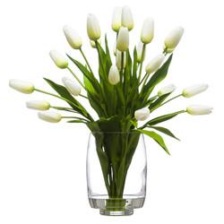 18 White Tulips