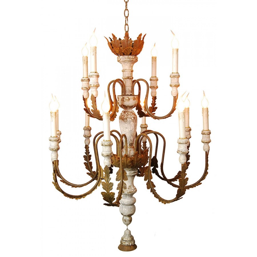 RPS9 Wood Centerpiece Chandelier